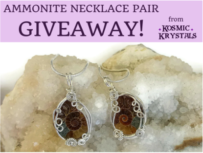 Win this Ammonite Fossil Necklace Pair from Kosmic Krystals