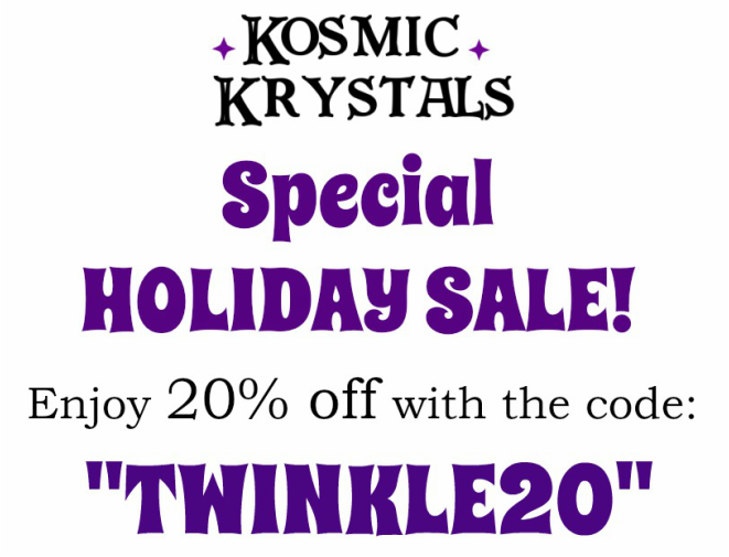 Kosmic Krystals Jewelry Holiday Sale