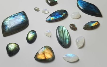 Labradorite and Rainbow Moonstone